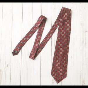 Christian Dior Red Pattern Tie